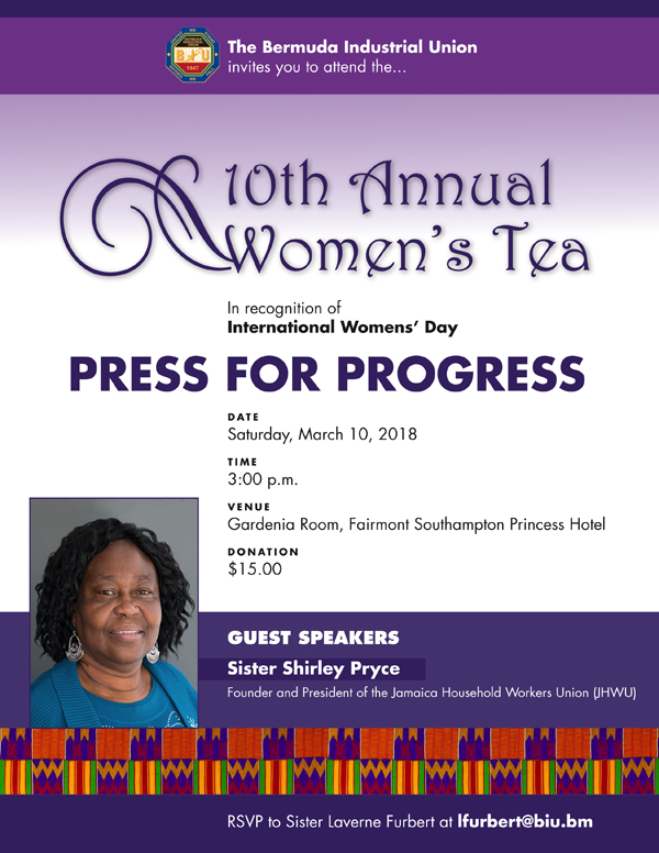 IWD 10th Annual Womens Tea Bermuda March 2018