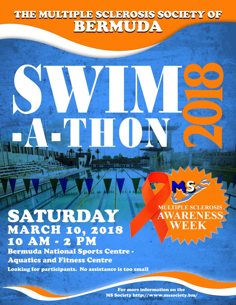 MS Society Swim a thon Bermuda March 2 2018