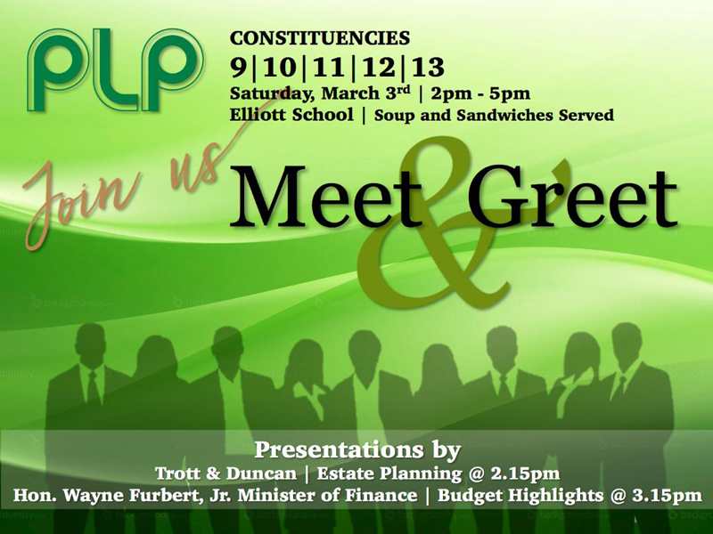 PLP Meet and Greet Bermuda March 1 2018