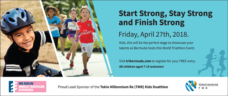 TMR Kids Duathlon Bermuda March 6 2018