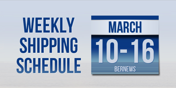Weekly Shipping Schedule TC Mar 10-16 2018