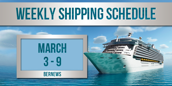 Weekly Shipping Schedule TC March 3-9 2018