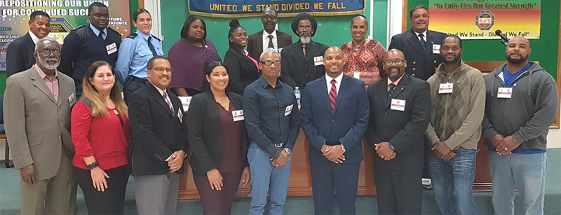 BTUC - Executive n Delegates Bermuda April 5 2018