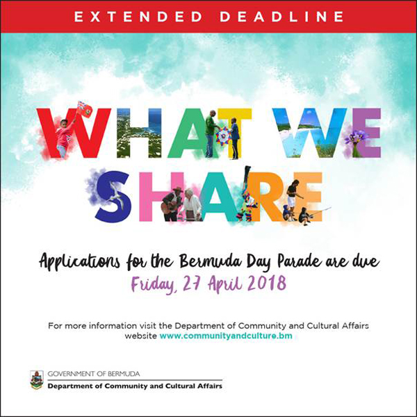 Bermuda Day Parade Registration Extended April 19 2018