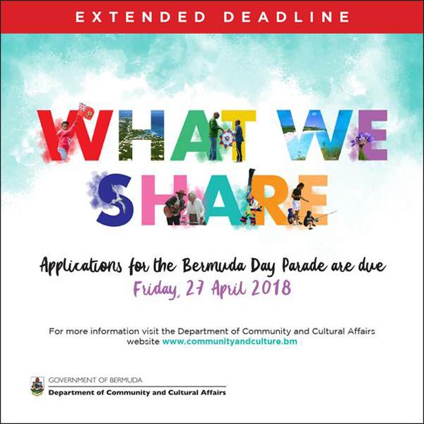 Bermuda Day Parade Registration Extended April 19 2018