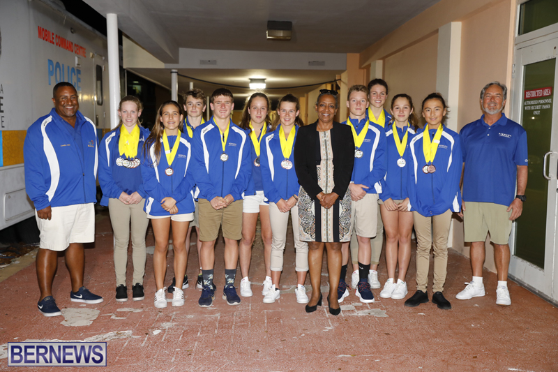 CARIFTA Swimming Team Bermuda 1 April 4 2018