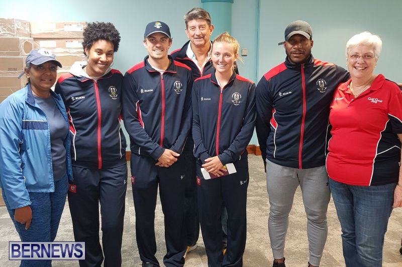 Commonwealth Games Bermuda Team Airport, April 16 2018