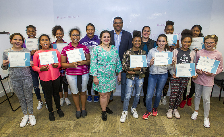 ConnecTech girls coding camp Bermuda April 6 2018 (1)