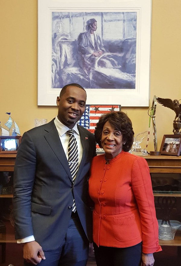 David Burt and Maxine Waters April 2018