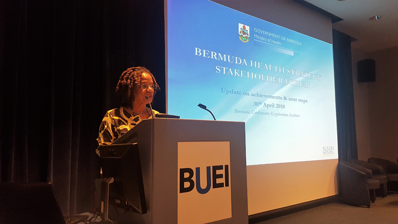Health Minister Kim Wilson Bermuda April 30 2018