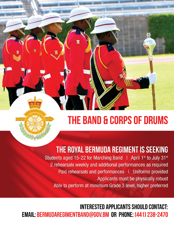 Regiment Band Bermuda April 2018