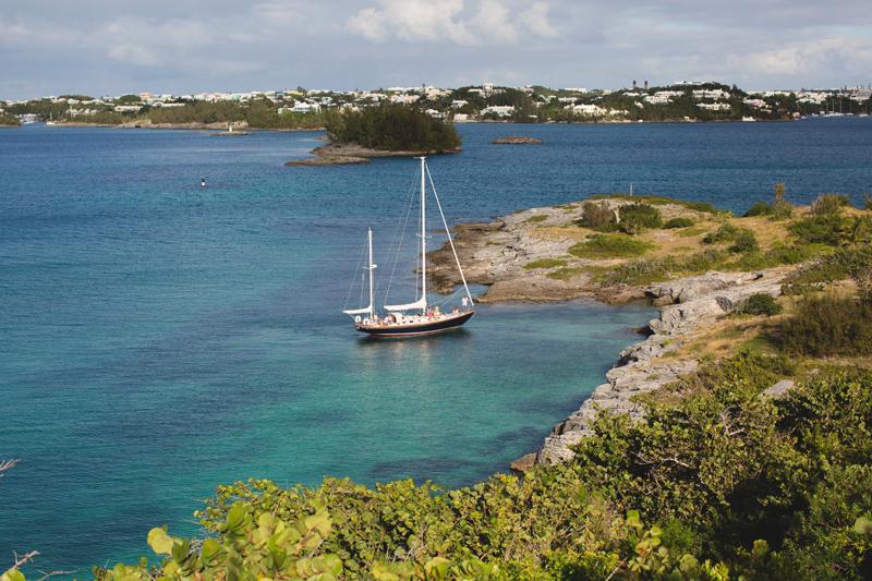 Sailboat in Bermuda waters April 2018