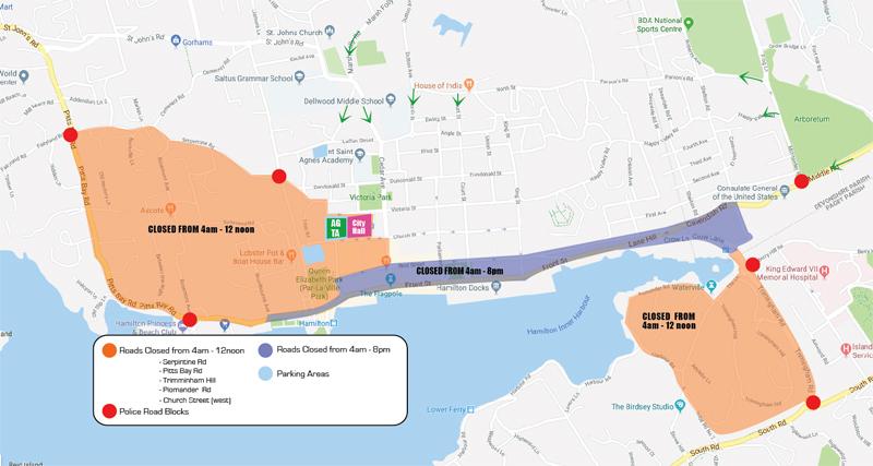 Maps, Road Closures, Traffic Notices For Triathlon - Bernews