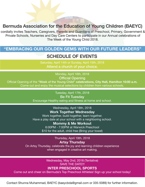 Week of the Young Child Bermuda April 2018