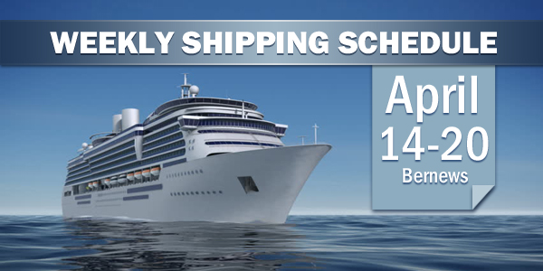 Weekly Shipping Schedule TC April 14-20 2018