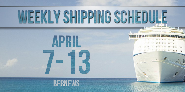 Weekly Shipping Schedule TC April 7 - 13 2018