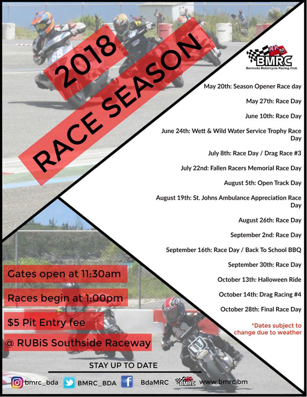 BMRC Season Opener Bermuda May 2018