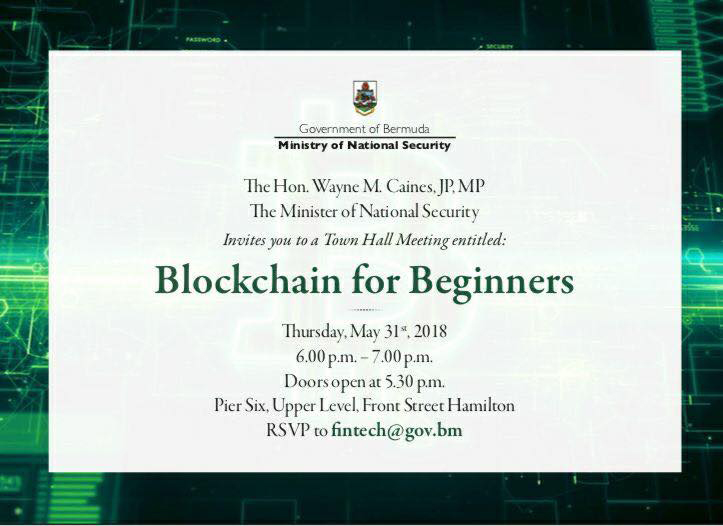 Blockchain for Beginners Bermuda May 2018