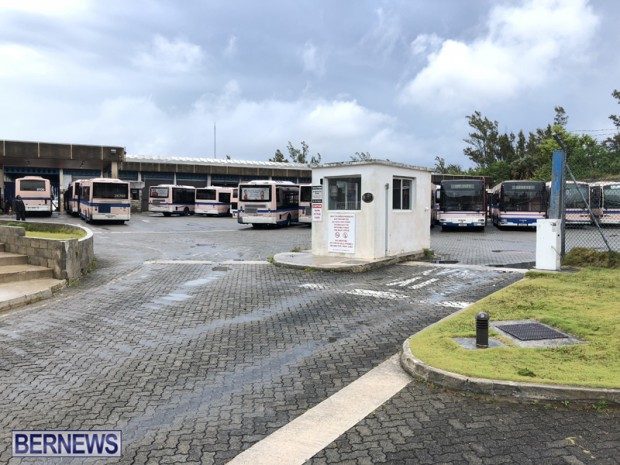 Bus Garage Bermuda May 24 2018
