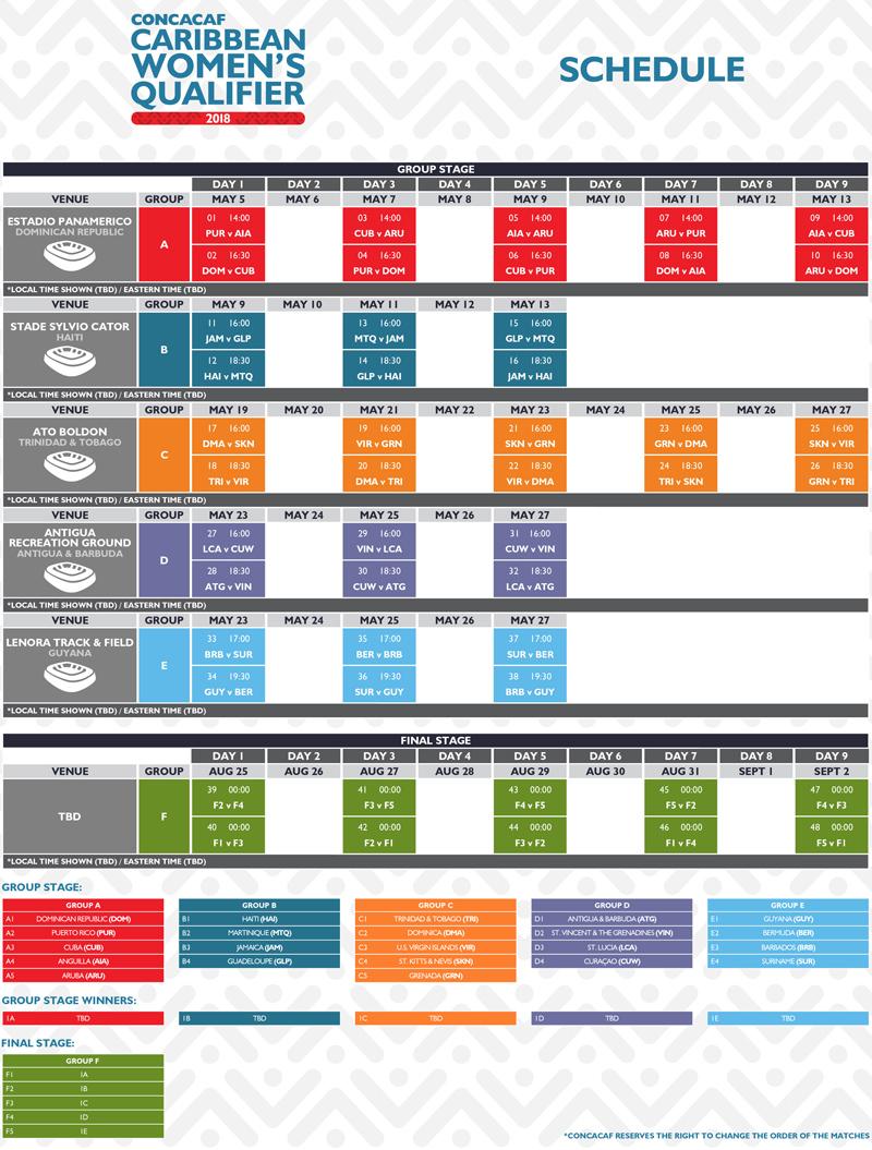 CCWQ Schedule Bermuda May 2018