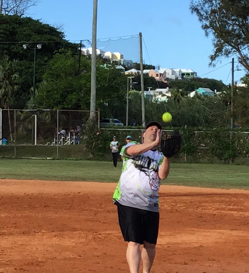 Danny Cook baseball Bermuda May 20 2018