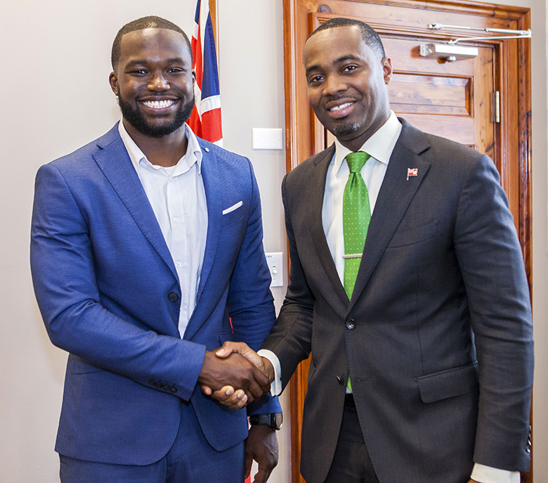Premier Meets with Sport Tourism Ambassador Bermuda May 2018 (1)