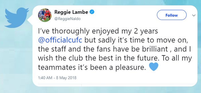 Reggie Lambe tweet Bermuda May 8 2018