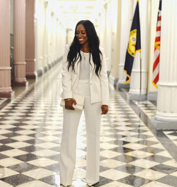 Shiona Turini at the White House