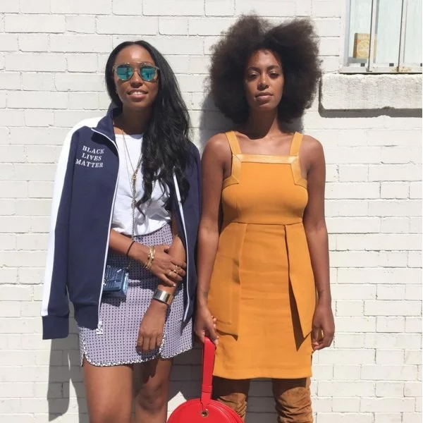 Shiona Turini with Solange Knowles
