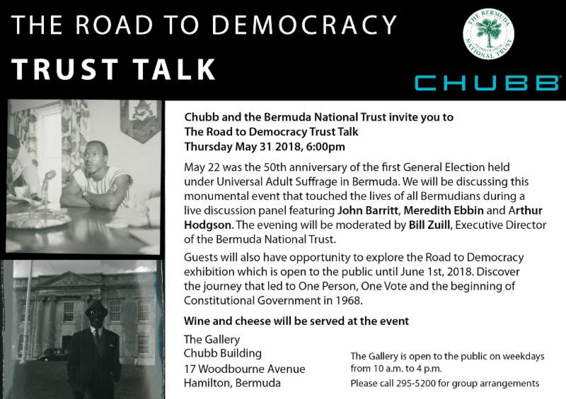 The Road to Democracy Bermuda May 28 2018