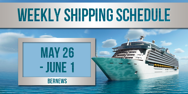 Weekly Shipping Schedule TC May 26 - June 1 2018