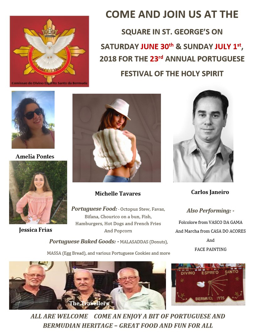 Flyer for Portuguese Festival Bermuda June 11 2018