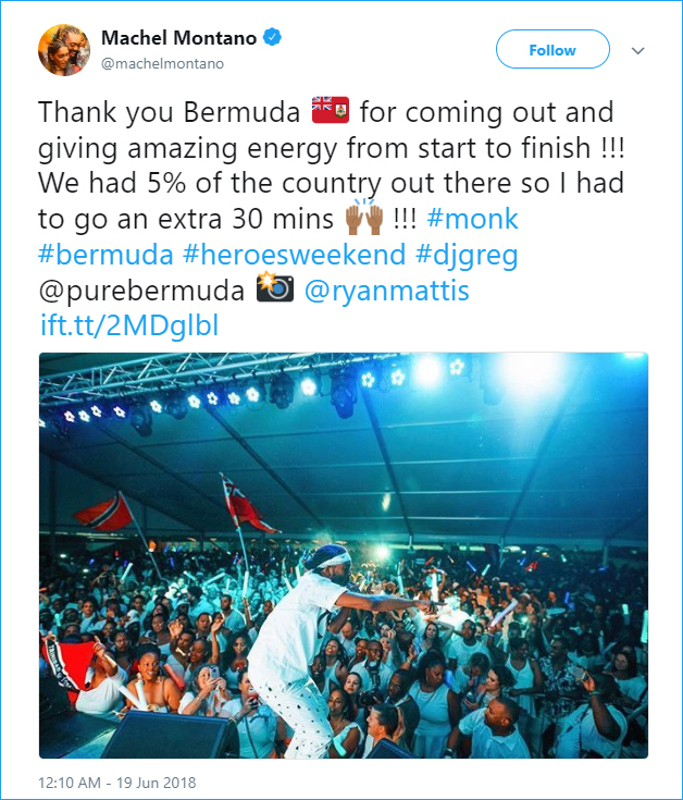 Machel Montano Bermuda June 18 2018