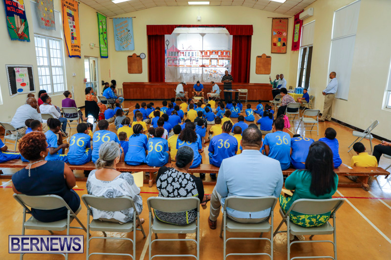 Pow Wow Native Drummers Visit St David's Primary School Bermuda, June 8 2018-9805