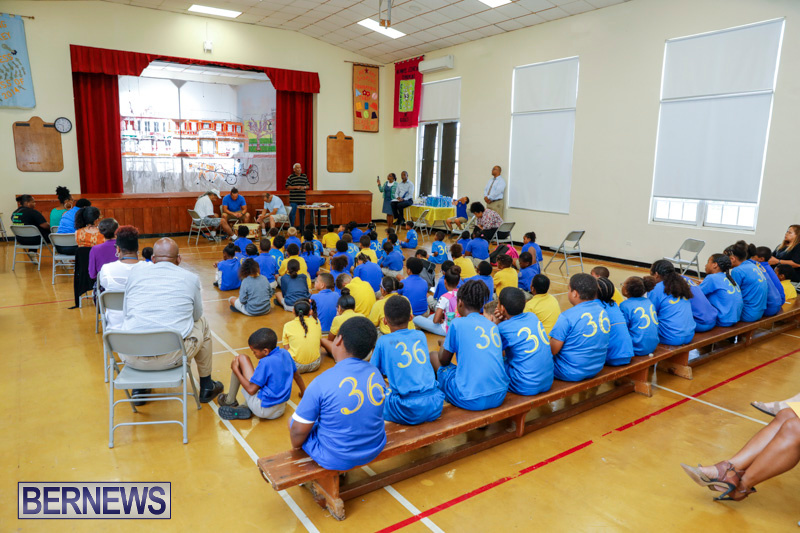 Pow Wow Native Drummers Visit St David's Primary School Bermuda, June 8 2018-9806