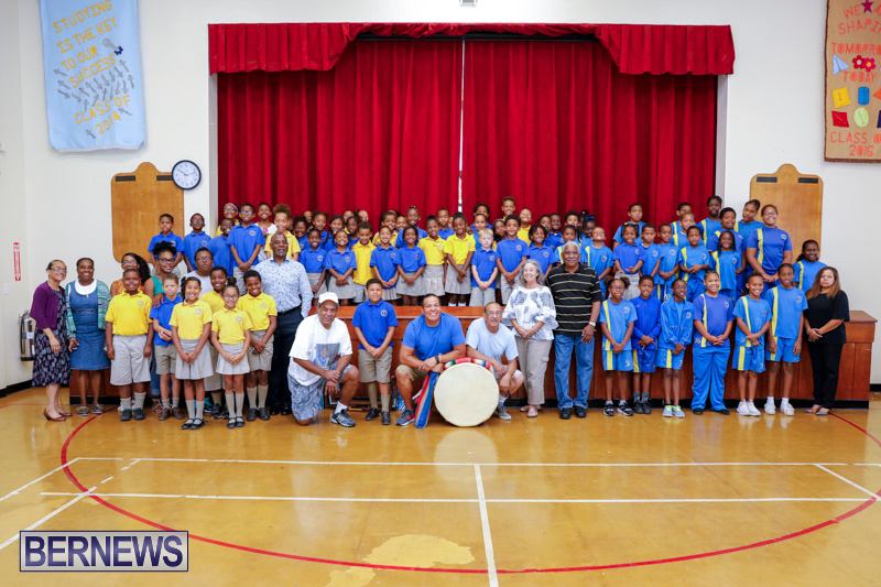Pow Wow Native Drummers Visit St David's Primary School Bermuda, June 8 2018-9851