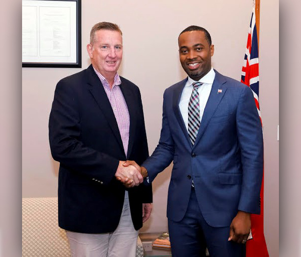 Premier David Burt and Larry Doyle Bermuda June 2018