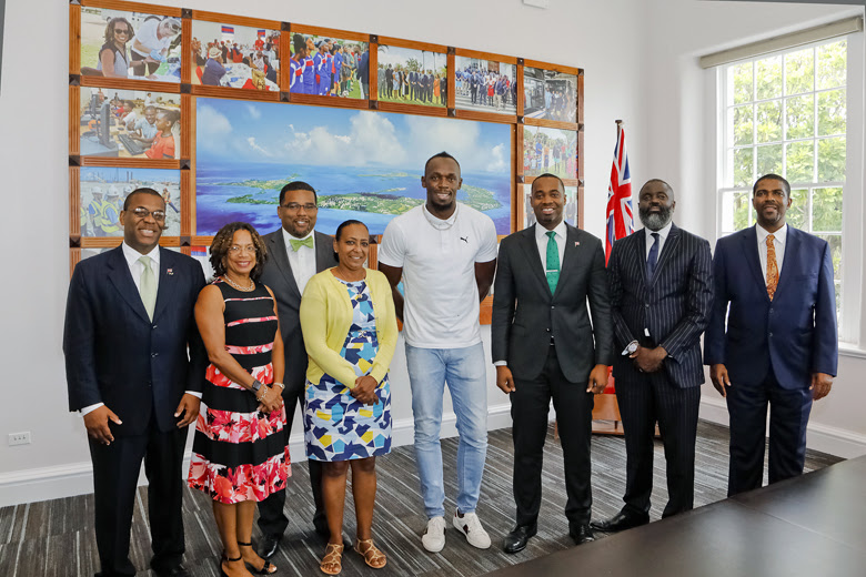 Premier Welcomes Usain Bolt To Cabinet Office Bermuda June 26 2018 (3)