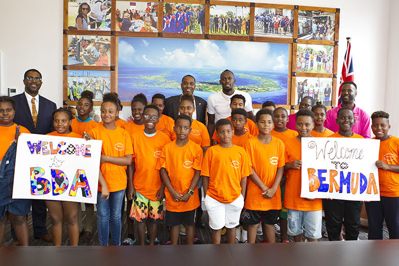 Premier Welcomes Usain Bolt To Cabinet Office Bermuda June 26 2018 (6)