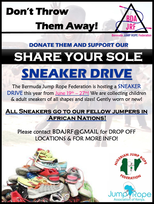 Save Your Sole Sneakers Drive Bermuda June 2018