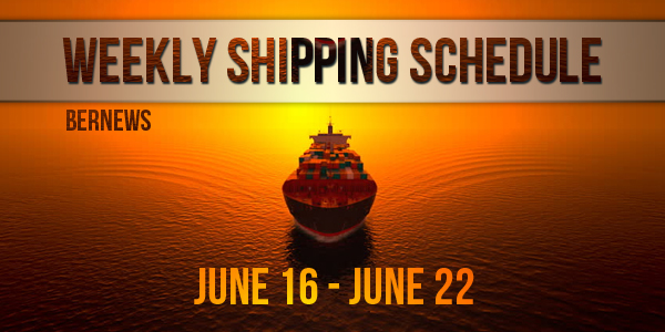Weekly Shipping Schedule TC June 16-22 2018