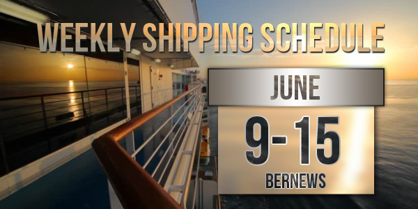 Weekly Shipping Schedule TC June 9 -15 2018
