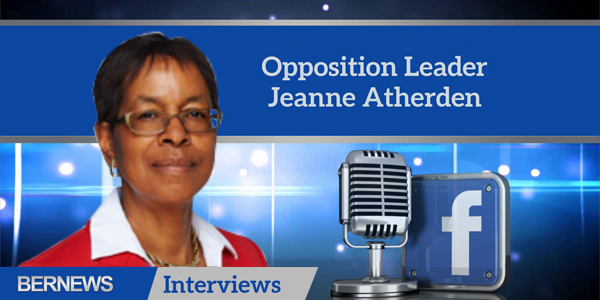 Bernews Interviews Opposition Leader Jeanne Atherden TC