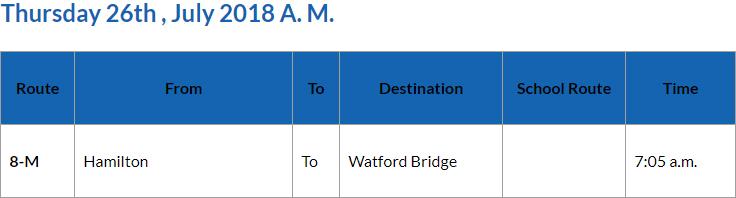 Bus cancellations AM Bermuda July 26 2018