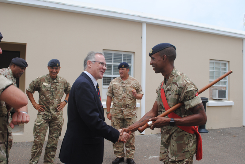 Governor Visits New Soldiers Bermuda July 4 2018 (3)