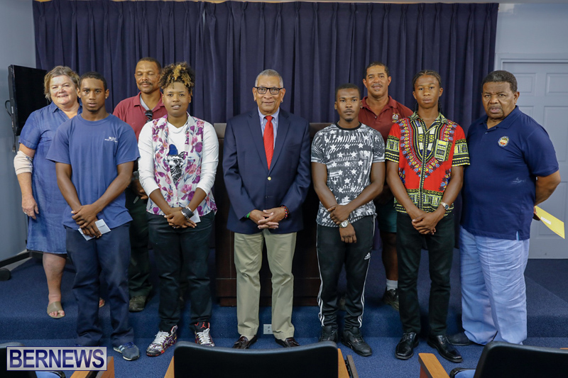 Minister David Burch press conference Bermuda July 16 2018