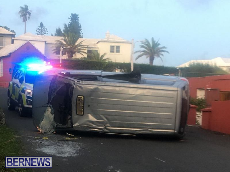 Overturned Vehicle Southampton Bermuda, July 18 2018
