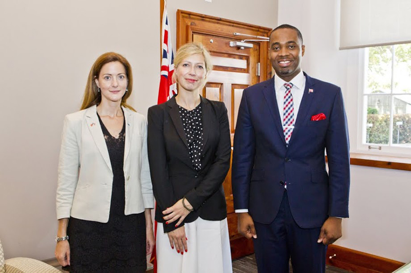 Premier Welcomes Consul General of France in NY Bermuda July 27 2018 (2)
