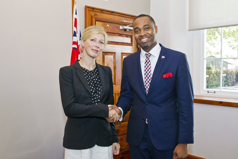 Premier Welcomes Consul General of France in NY Bermuda July 27 2018 (3)