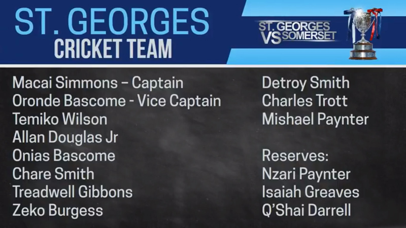 St George's Cricket Team Bermuda July 2018